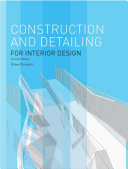 Construction and Detailing for Interior Design Second Edition