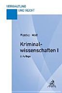 Kriminalwissenschaften I