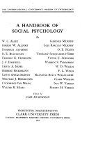 A Handbook of Social Psychology