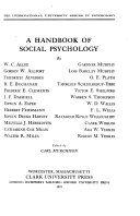 A Handbook of Social Psychology Book