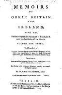 Memoirs of Great Britain and Ireland ... ebook