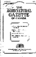 Agricultural Gazette of Canada