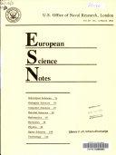 European Science Notes