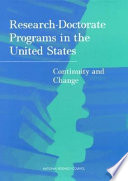 Research Doctorate Programs In The United States