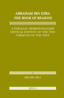 Abraham Ibn Ezra: The Book of Reasons. A Parallel ...