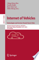 Internet of Vehicles  Technologies and Services Toward Smart Cities