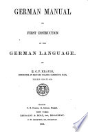 German manual, or First instruction in the German language