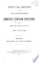 Official Report of the     International Christian Endeavor Convention