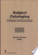 Subject Cataloging