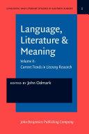 Language, Literature & Meaning