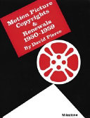 Pdf Motion Picture Copyrights & Renewals, 1950-1959