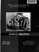 Annual Meeting  Papers and Proceedings