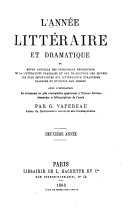 L'année littéraire et dramatique