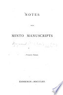 Notes from Minto Manuscripts