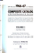 The Composite Catalog of Oil Field Equipment   Services
