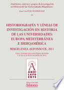 Institutos, centros y grupos de investigación en Historia de las Universidades Hispánicas