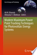 Modern Maximum Power Point Tracking Techniques For Photovoltaic Energy Systems Book PDF