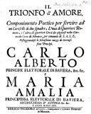 Il trionfo d'amore alle nozze di Carlo Alberto e Maria Amalia ebook