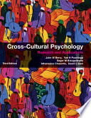 """""""Cross-Cultural Psychology: Research and Applications"""" by John W. Berry, Ype H. Poortinga, Seger M. Breugelmans, Athanasios Chasiotis, David L. Sam"""