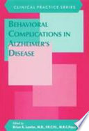 Behavioral Complications In Alzheimer S Disease