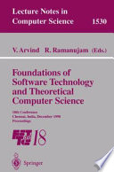 Foundations of Software Technology and Theoretical Computer Science  : 18th Conference, Chennai, India, December 17-19, 1998, Proceedings