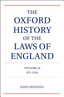 Pdf The Oxford History of the Laws of England Volume II Telecharger