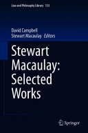Stewart Macaulay: Selected Texts
