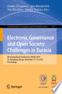 Electronic Governance And Open Society Challenges In Eurasia