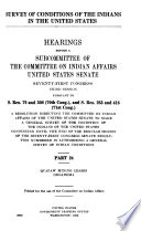 Survey Of Conditions Of The Indians In The United States