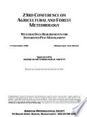 23rd Conference on Agricultural and Forest Meteorology