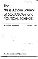 The West African Journal Of Sociology And Political Science