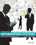 Introduction to Information Systems: Supporting and Transforming Business, Third Canadian Edition [Pdf/ePub] eBook
