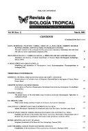 Revista De Biolog A Tropical Book PDF