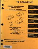 Operator's and Organizational Maintenance Manual (aviation Unit Maintenance)
