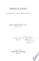 Miscellanies  Literary and Religious Book PDF