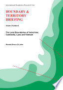 The Land Boundaries of Indochina Book PDF