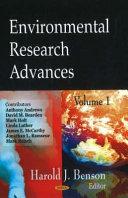 Environmental Research Advances Book PDF