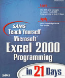 Sams Teach Yourself Microsoft Excel 2000 Programming in 21 Days