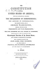 The Constitution of the United States of America  the Declaration of Independence  the Articles of Confederation  the Prominent Political Acts of George Washington