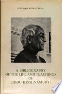 A Bibliography Of The Life And Teachings Of Jiddu Krishnamurti