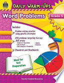 Daily Warm Ups  Problem Solving Math Grade 5 Book