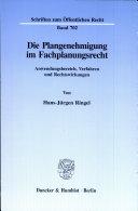 Die Plangenehmigung im Fachplanungsrecht