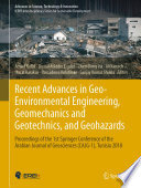 Recent Advances in Geo Environmental Engineering  Geomechanics and Geotechnics  and Geohazards Book