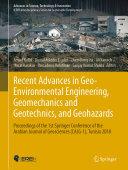 Recent Advances in Geo Environmental Engineering  Geomechanics and Geotechnics  and Geohazards