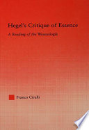 Hegel S Critique Of Essence