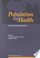Population and Health in Developing Countries  Population  health and survival at INDEPTH sites Book