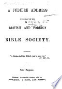 A jubilee in behalf of the British and Foreign Bible Society. [By a dissenting minister of Northampton.]