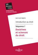 Pdf Introduction au droit - Séquence 7. Doctrines et sciences du droit Telecharger