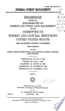 Federal Forest Management Book