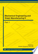 Mechanical Engineering and Green Manufacturing II Book